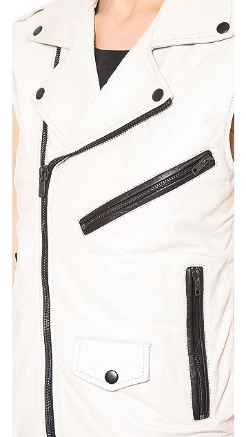 BLK DNM Leather Vest