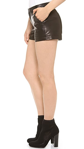 BLK DNM Leather Shorts