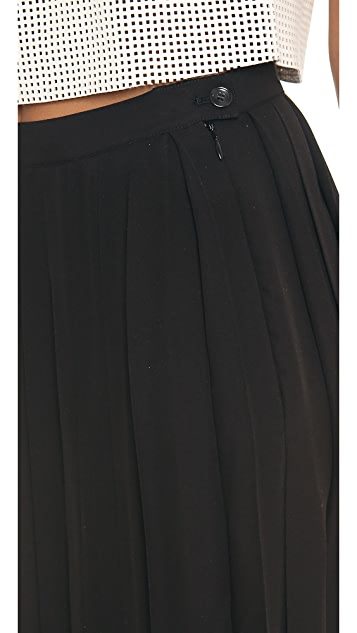 BLK DNM Silk Pleated Skirt