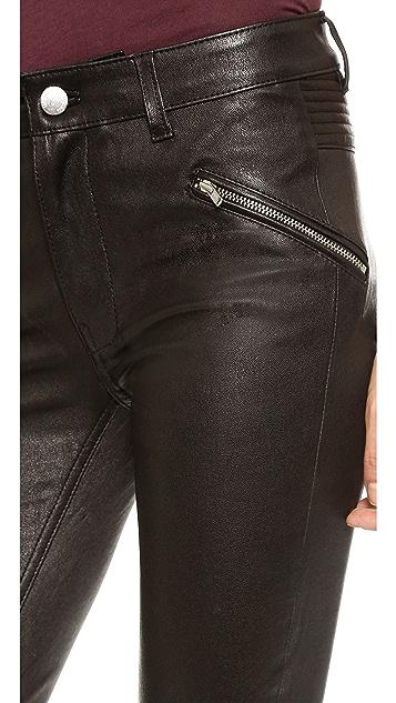 BLK DNM Stretch Leather Biker Pants 1