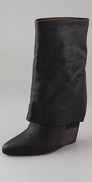 Blonde Ambition Adriana Wedge Boots