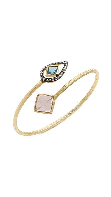 Blossom Box Two Tone Stone Bracelet