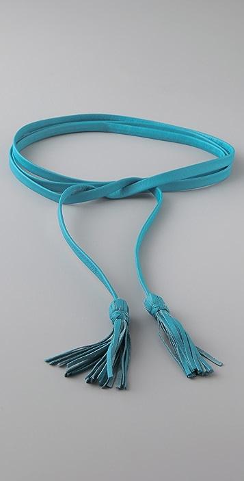 B-Low The Belt Skinny Tassel Belt