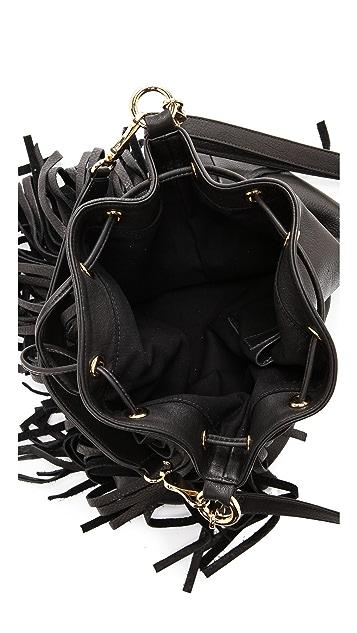 B-Low The Belt Weekender Fringe Bucket Bag