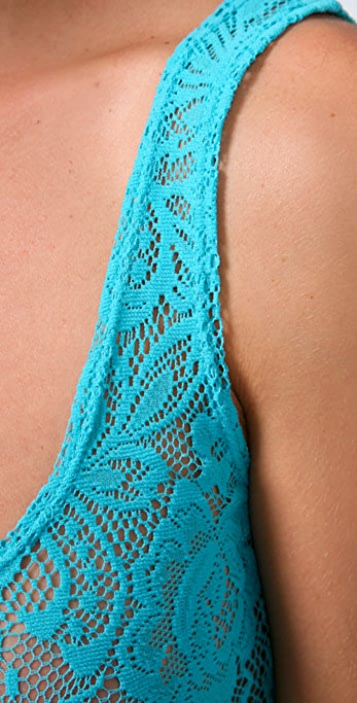 Blue Life Lace Tank Top