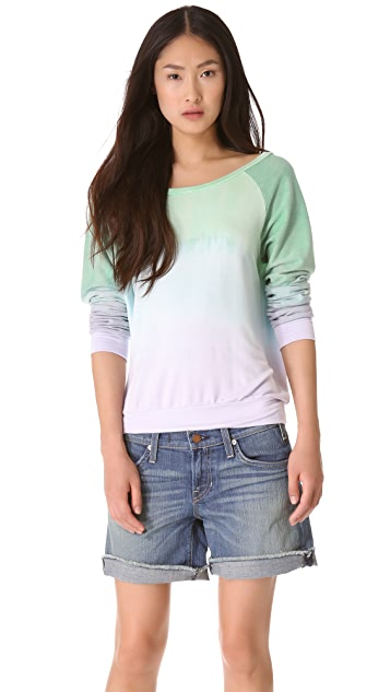 Blue Life Lightweight Fleece Long Sleeve Tee
