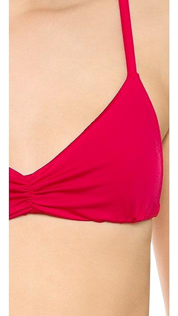 Blue Life Island Fever Triangle Bikini Top