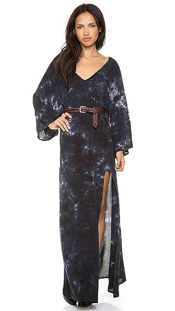 Blue Life Open Back Kimono Dress