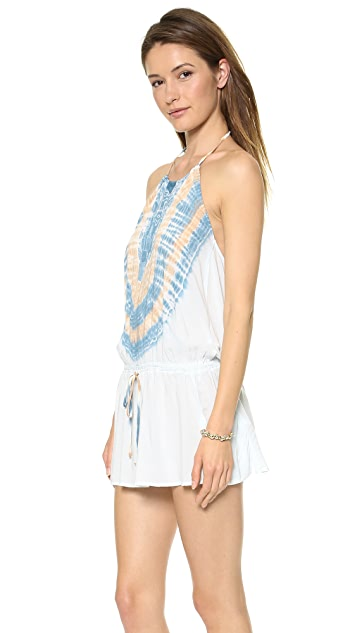 Blue Life Island Life Halter Dress