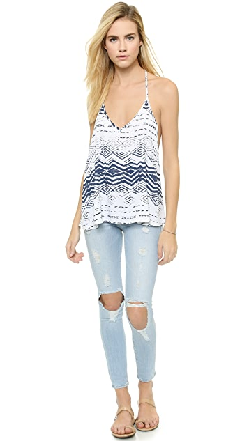 Blue Life V Neck Cami