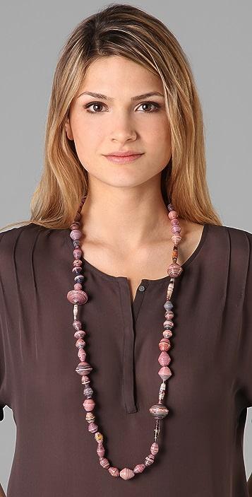 bluma project Ola Paper Bead Necklace