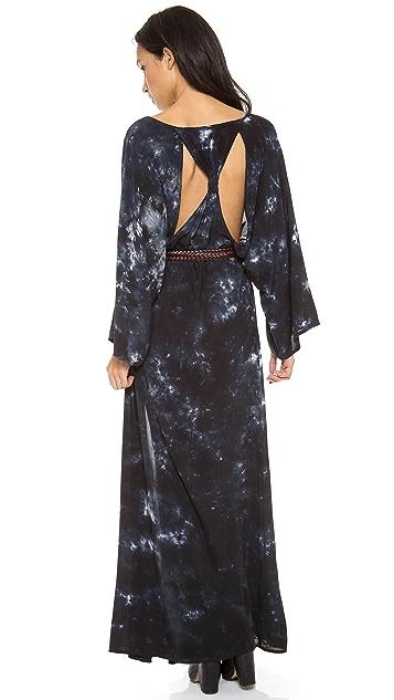 Blu Moon Open Back Kimono Dress