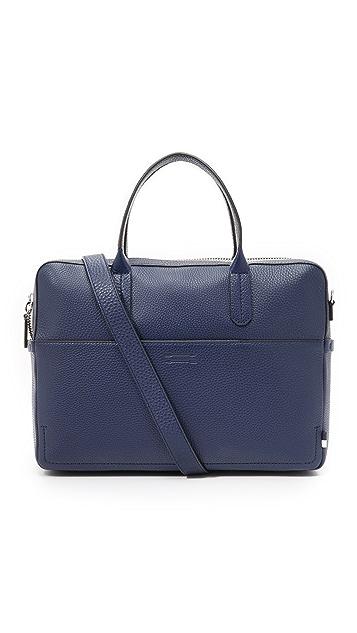 Uri Minkoff Pebbled Leather Fulton Briefcase