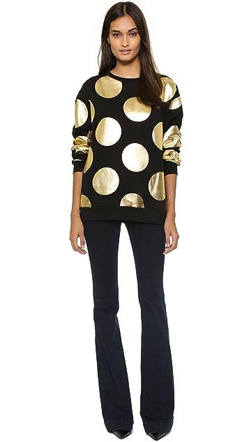 Boutique Moschino Polka Dot Sweatshirt