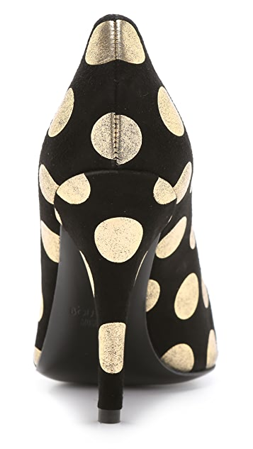 Boutique Moschino Suede Polka Dot Pumps