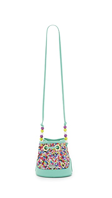 Boutique Moschino Printed Bucket Bag