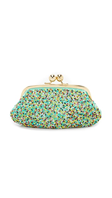 Boutique Moschino Embellished Clutch