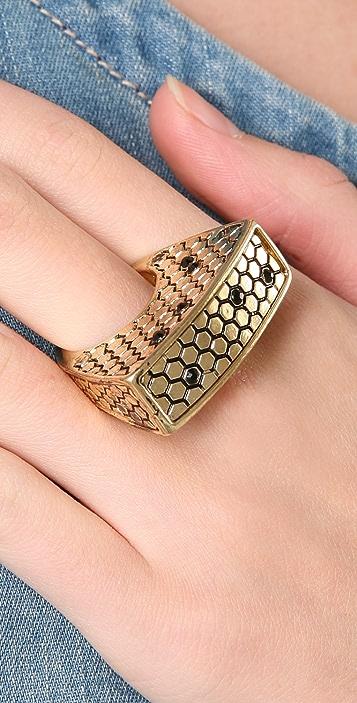 Belle Noel Honey Hexagon Ring