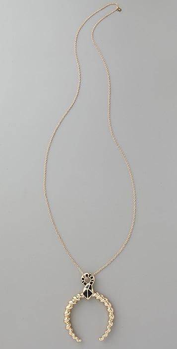 Belle Noel Ram's Horn Pendant Necklace