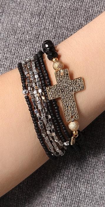 Belle Noel Cross & Beaded Bracelet Set