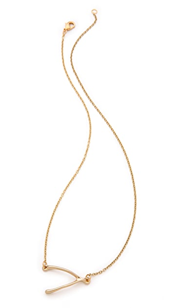 Belle Noel Wishbone Side Station Necklace