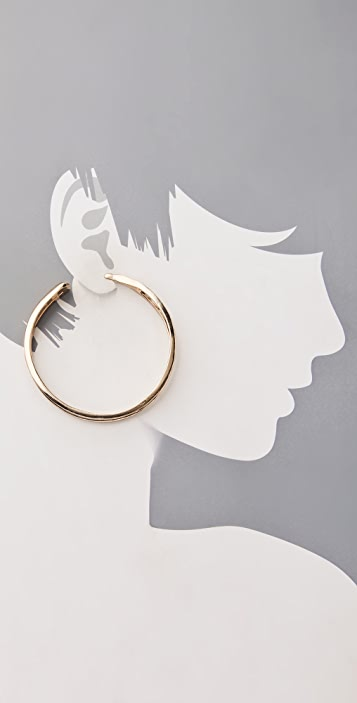 Belle Noel Wishbone Hoop Earrings