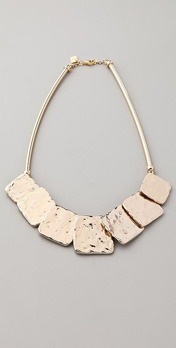 Belle Noel Molten Gold Squares Necklace