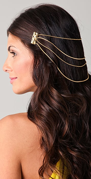 Belle Noel Molten Gold Hair Chain