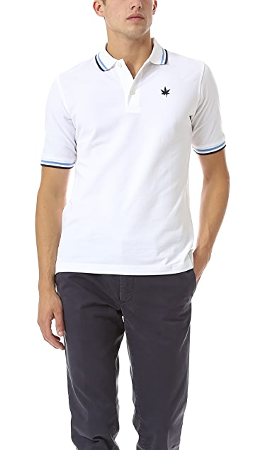 Boast Striped Collar Polo Shirt