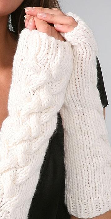 Bop Basics Thick Knit Fingerless Gloves