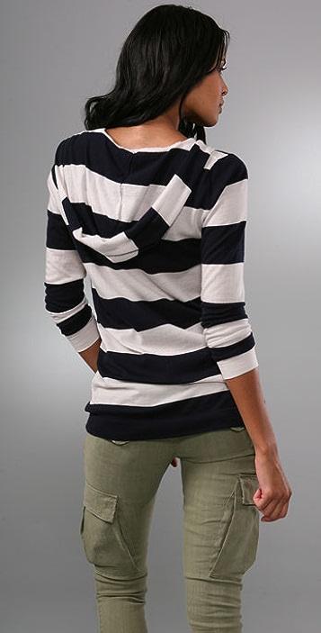 Bop Basics Cashmere Bold Stripe Hoodie