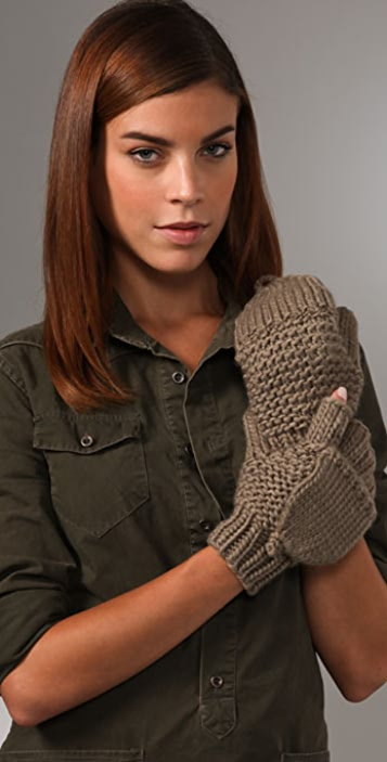Bop Basics Thick Knit Flip Top Mittens