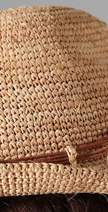 Bop Basics Raffia Crochet Short Brim Hat