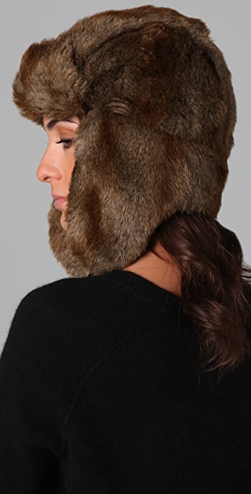 Bop Basics Faux Fur Trapper Hat