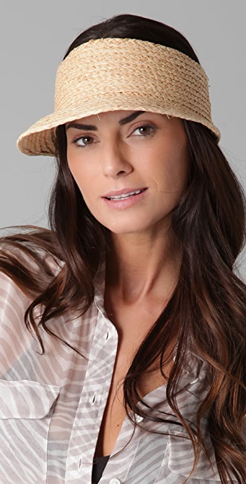 Bop Basics Raffia Braid Visor