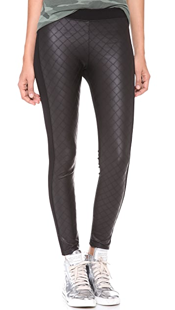 Bop Basics Quilted Faux Leather Leggings