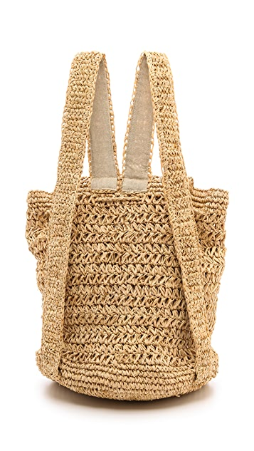 Bop Basics Raffia Backpack