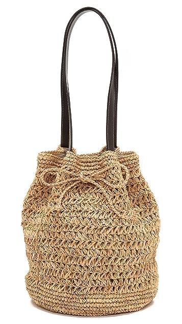 Bop Basics Raffia Slouchy Hobo Bag