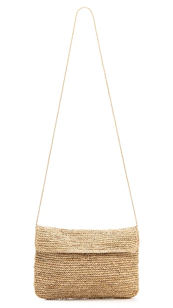 Bop Basics Raffia Crochet Cluch with Crossbody Strap