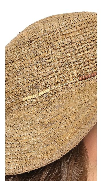 Bop Basics Raffia Flat Top Crochet Sunhat