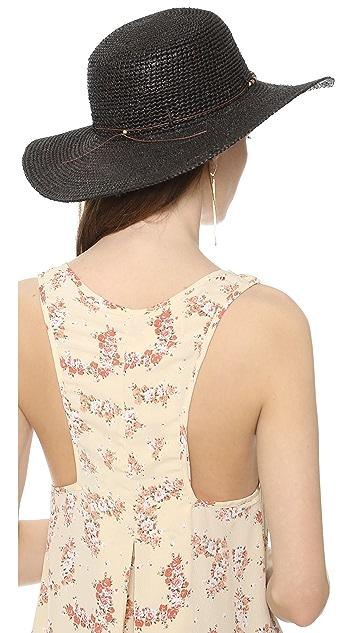 Bop Basics Raffia Round Top Crochet Sunhat