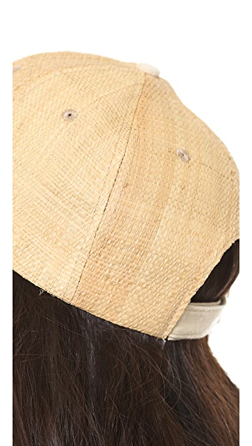 Bop Basics Raffia Straw Cap