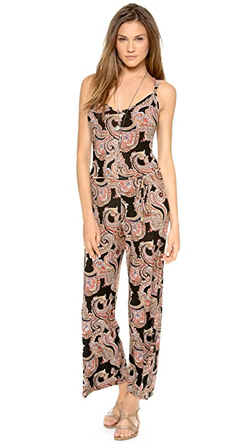 Bop Basics Beachy Printed Jumpsuit