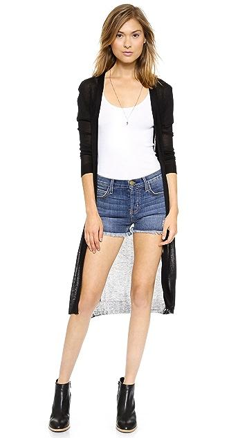 Bop Basics Sheer Long Cardigan