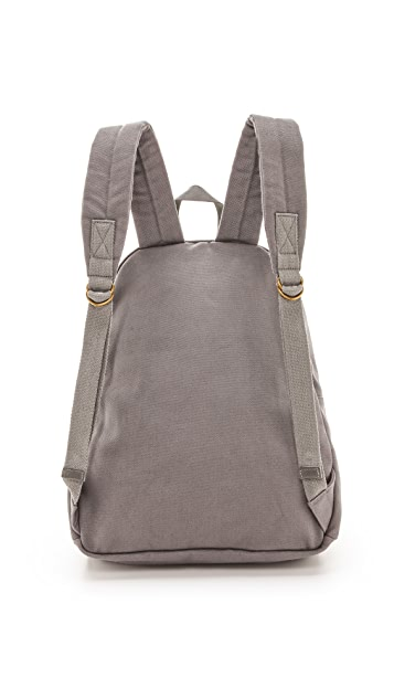 Bop Basics Leather Trimmed Backpack