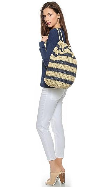 Bop Basics Rafia Striped Sling Backpack