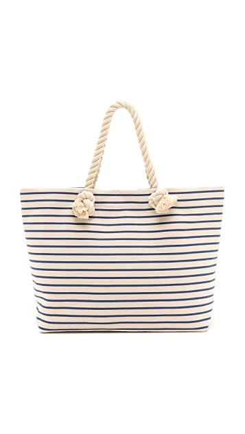 Bop Basics Canvas Beach Tote with Rope Handles