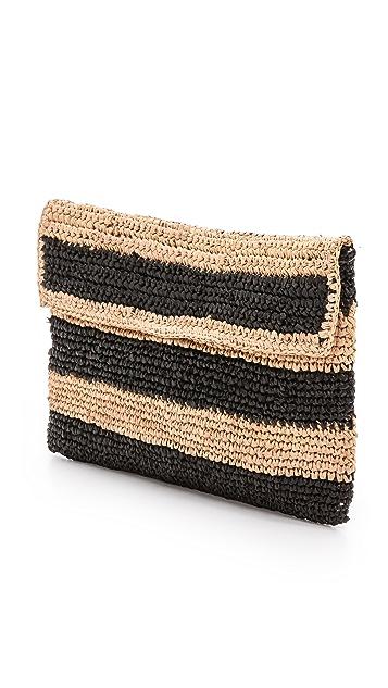 Bop Basics Raffia Stripe Clutch