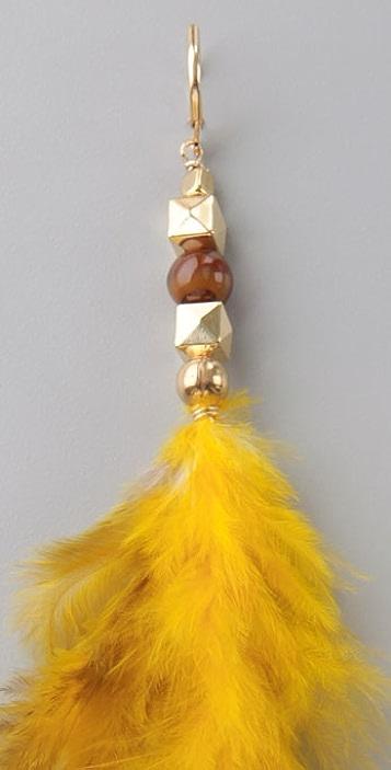 Bop Bijoux City Feather Earrings