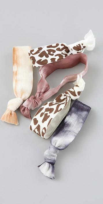 Bop Bijoux Tie Dye Cheetah Hair Tie Set